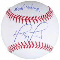 "David Ortiz Signed Baseball Inscribed ""Boston Strong"" (Fanatics Hologram & MLB Hologram) at PristineAuction.com"