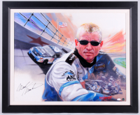 "Mark Martin Signed ""Mark Martin"" 29.75x35.75 Custom Framed Original Oil Painting on Canvas (JSA COA)"