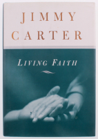 "Jimmy Carter Signed ""Living Faith"" Hardcover Book (PSA COA)"