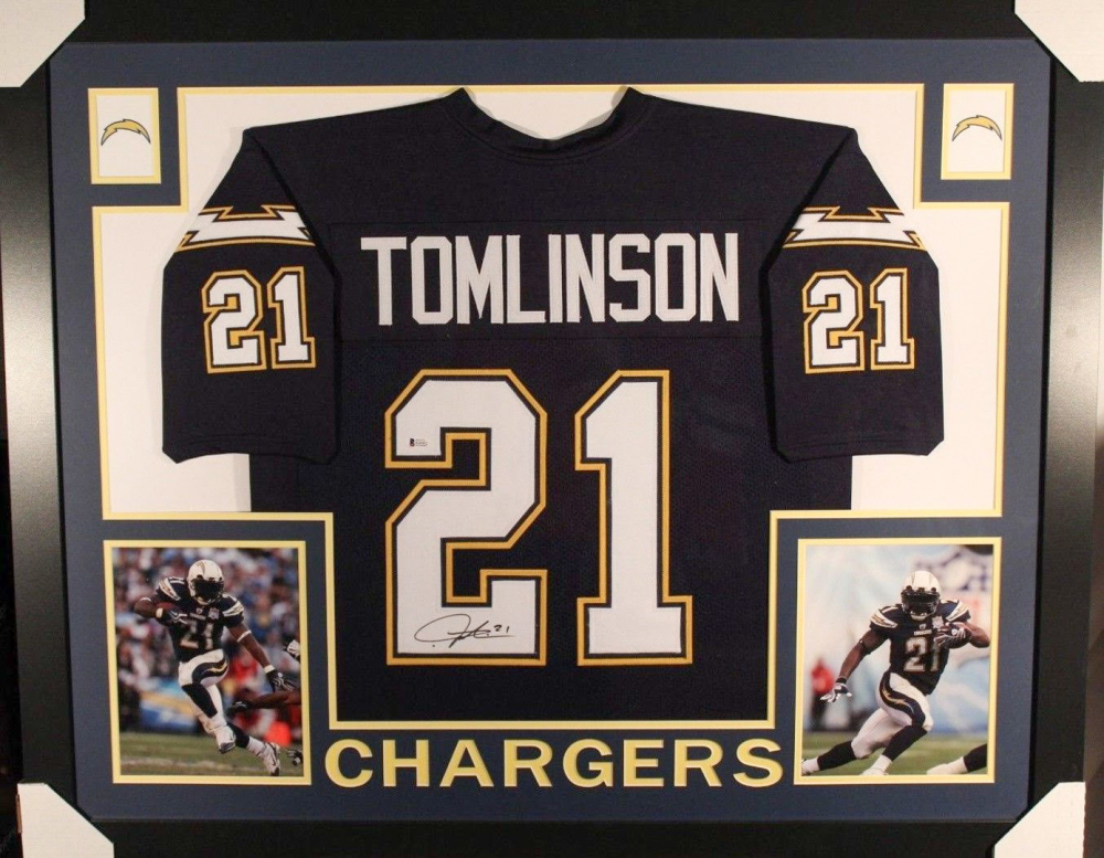eb788e72f01 LaDainian Tomlinson Signed Chargers 35x43 Custom Framed Jersey (Beckett  COA) at PristineAuction.com