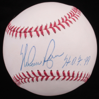 "Nolan Ryan Signed OML Baseball Inscribed ""H.O.F. 99"" (Ryan Hologram) at PristineAuction.com"