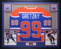 Wayne Gretzky Signed 35x43 Custom Framed Jersey (Beckett LOA) at PristineAuction.com