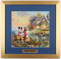 "Thomas Kinkade Walt Disney's ""Mickey and Minnie"" 17.5x18 Custom Framed Print"