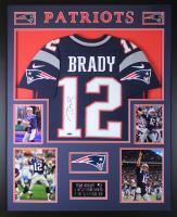 Tom Brady Signed 35x43 Custom Framed Jersey (TriStar)