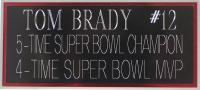 Tom Brady Signed Patriots 35x43 Custom Framed Jersey (TriStar) at PristineAuction.com