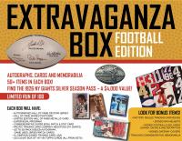 """""""Football Extravaganza Box""""! Auto's, Cards & Memorabilia - 50+ Items Per Box!"""