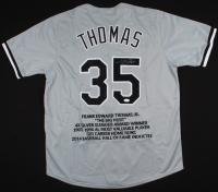 Frank Thomas Signed Career Highlight Stat Jersey (JSA COA) at PristineAuction.com