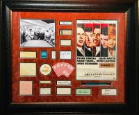 """Ocean's 11"" 32x39 Custom Framed Display Cast-Signed by (14) with Frank Sinatra, Sammy Davis Jr, Dean Martin, Peter Lawford, Joey Bishop, Cesar Romero (JSA, PSA & Beckett LOA)"