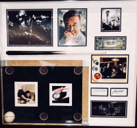 """The Hustler"" 26x28 Custom Framed Display Cast-Signed by (5) with Jackie Gleason, Jake LaMotta, Piper Laurie, George C. Scott & Paul Newman (JSA & PSA LOA) (JSA, PSA & Beckett LOA) at PristineAuction.com"