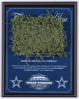 "Dallas Cowboys Texas Stadium ""The Farewell"" Final Season 8x10 Plaque with Game-Used Turf (Steiner COA)"