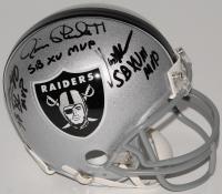 Jim Plunkett, Marcus Allen & Fred Biletnikoff Signed Raiders Mini-Helmet with (3) MVP Inscriptions (Radtke COA & Biletnikoff Hologram & Allen Hologram) at PristineAuction.com