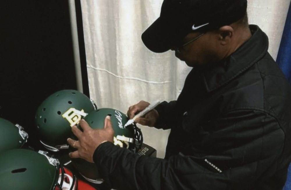 6e80c73386a Mike Singletary Signed Baylor Bears Full-Size Helmet Inscribed