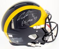 "Charles Woodson Signed Michigan Wolverines Full-Size Authentic On-Field Speed Helmet Inscribed ""Heisman 97"" (Radtke COA)"
