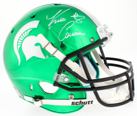 Kirk Cousins Signed Michigan State Spartans Custom Green Chrome Full-Size Helmet (Beckett COA) at PristineAuction.com
