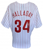 Roy Halladay Signed Phillies Majestic Jersey (Beckett COA) at PristineAuction.com