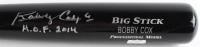 "Bobby Cox Signed Rawlings Custom Engraved Big Stick Adirondack Professional Model Baseball Bat Inscribed ""HOF 2014"" (Radtke Hologram) at PristineAuction.com"