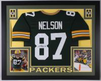 Jordy Nelson Signed Packers 35x43 Custom Framed Jersey (JSA Hologram)