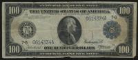1914 $100 One Hundred Dollars U.S. Blue Seal Federal Reserve Bank Note