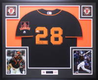 Buster Posey Signed 35x43 Custom Framed Jersey Display (Beckett COA) at PristineAuction.com