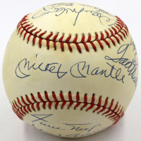 500 Home Run Club ONL Baseball Signed by (11) with Mickey Mantle, Ted Williams, Eddie Mathews, Reggie Jackson, Frank Robinson (JSA LOA)