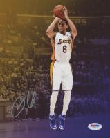 Jordan Clarkson Signed Lakers 8x10 Photo (PSA COA) at PristineAuction.com
