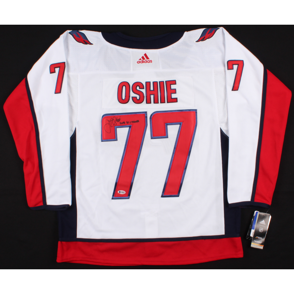 6eb501160 T. J. Oshie Signed Capitals Jersey Inscribed