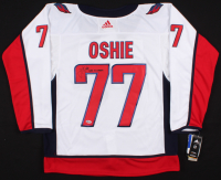 """T. J. Oshie Signed Capitals Jersey Inscribed """"2018 SC Champs"""" (Beckett COA)"""