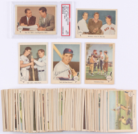 Lot of (100) Ted WIlliams 1959 Fleer Baseball Cards with #68 Signs for 1959 SP (PSA 7), #63 All Star Record Autograph, #1 The Early Years, #2 Ted's Idol Babe Ruth, #75 Williams' Value to Sox