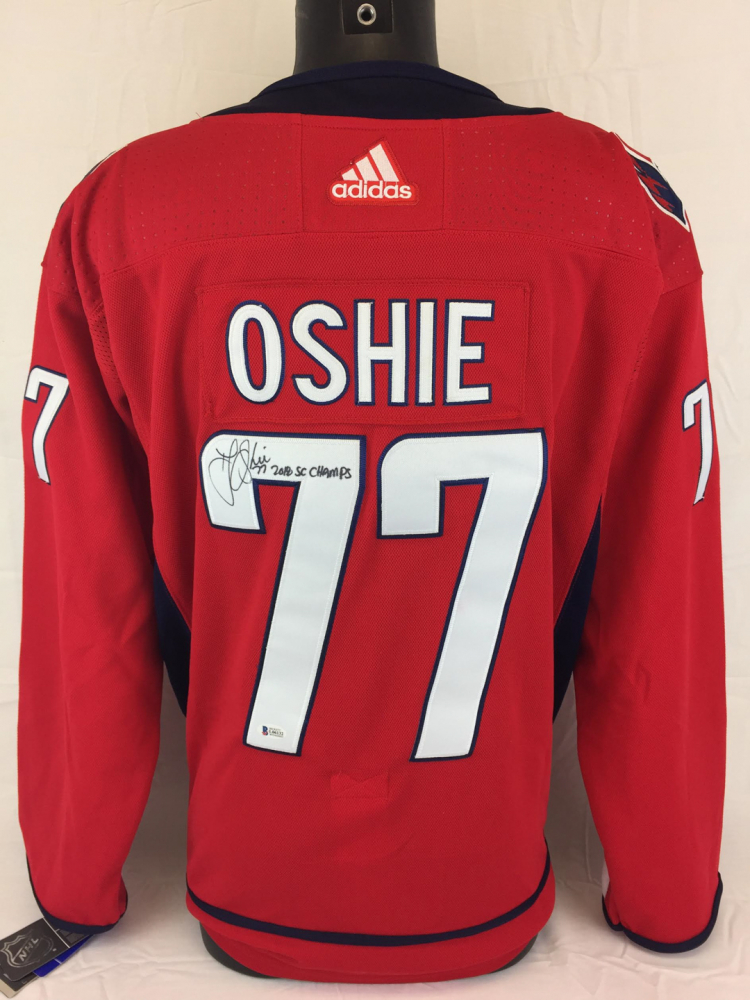 941ee3538 T.J. Oshie Signed Capitals Adidas Jersey Inscribed