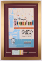 Disneyland Opening Day Ceremony 17x25 Custom Framed Print Display with Vintage Ticket Booklet & Bronze Pin