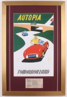 "Disneyland Tomorrowland ""Autopia"" 17x25 Custom Framed Poster Print Display with Vintage Ticket"