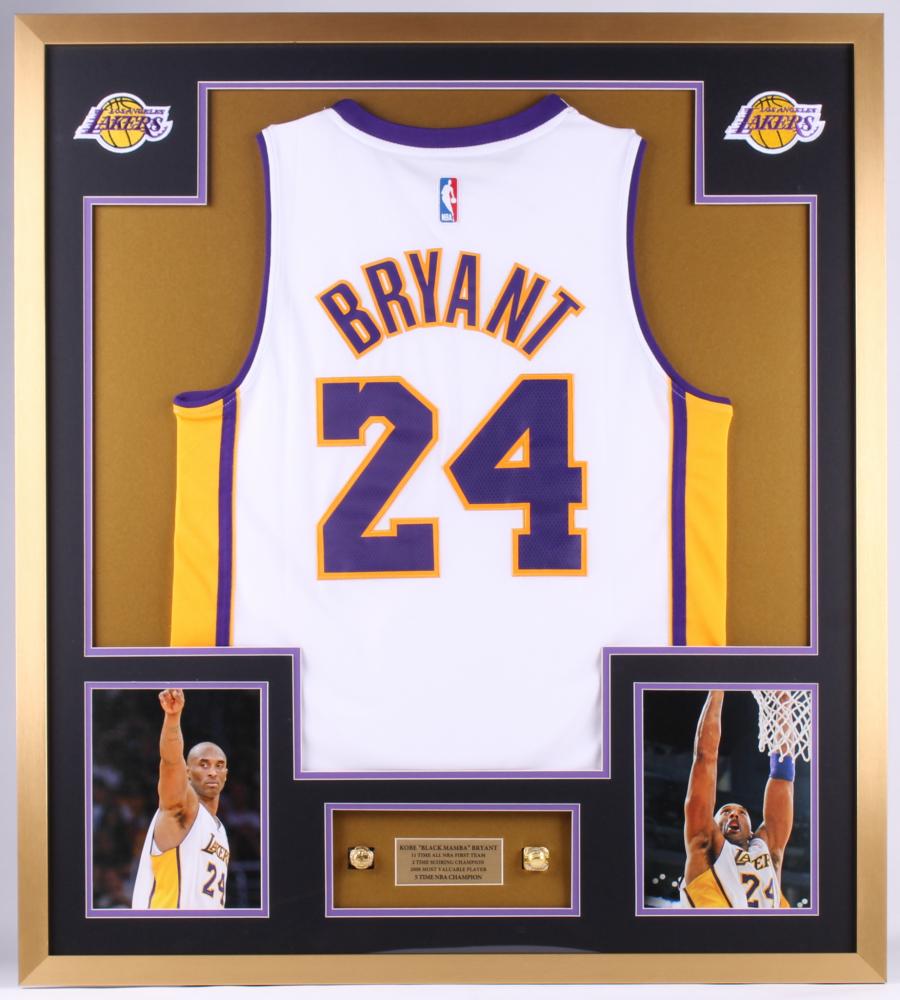 Kobe Bryant Lakers 34x38 Custom Framed Jersey Display | Pristine ...