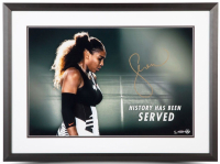 "Serena Williams Signed ""History Has Been Served"" 20x24 Limited Edition Custom Framed Photo (UDA COA) at PristineAuction.com"
