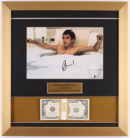 "Al Pacino Signed ""Scarface"" 16x17 Custom Framed Display with Movie Prop Money (Beckett COA)"