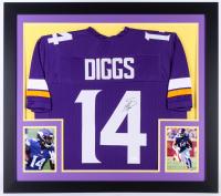 Stefon Diggs Signed Vikings 31x35 Custom Framed Jersey (JSA COA)