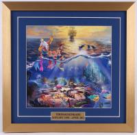 "Thomas Kinkade Walt Disney ""The Little Mermaid"" 17.5x18 Custom Framed Print"
