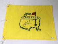 Tiger Woods Signed 2002 Masters Golf Pin Flag (UDA COA)