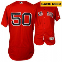 "Mookie Betts Signed Game-Used Red Sox Jersey Inscribed ""Game Used 6-17-16"" (Fanatics Hologram & MLB Hologram) at PristineAuction.com"