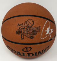"Stephen Curry Signed LE ""Back-to-Back NBA Champions"" Official NBA Game Ball (Steiner COA) at PristineAuction.com"
