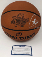"""Stephen Curry Signed LE """"Back-to-Back NBA Champions"""" Official NBA Game Ball (Steiner COA) at PristineAuction.com"""