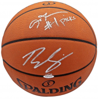 "Ben Simmons & Allen Iverson Signed Limited Edition Spalding Basketball Inscribed ""#1 Picks"" (UDA COA) at PristineAuction.com"