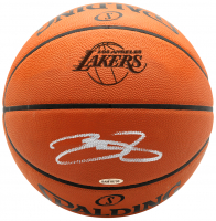 LeBron James Signed Lakers Logo Basketball (UDA COA)