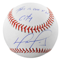 "David Ortiz Signed Baseball Inscribed ""This is Our F'N City"" (Fanatics Hologram & MLB Hologram) at PristineAuction.com"
