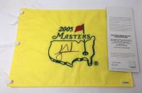 Tiger Woods Signed 2005 Masters Golf Pin Flag (UDA COA)