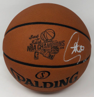 "Stephen Curry Signed ""Back-to-Back NBA Champions"" LE Official NBA Game Ball Basketball (Steiner COA) at PristineAuction.com"