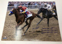 """Mike Smith Signed """"Triple Crown"""" 16x20 Limited Edition Photo with Multiple Inscriptions (Steiner COA)"""