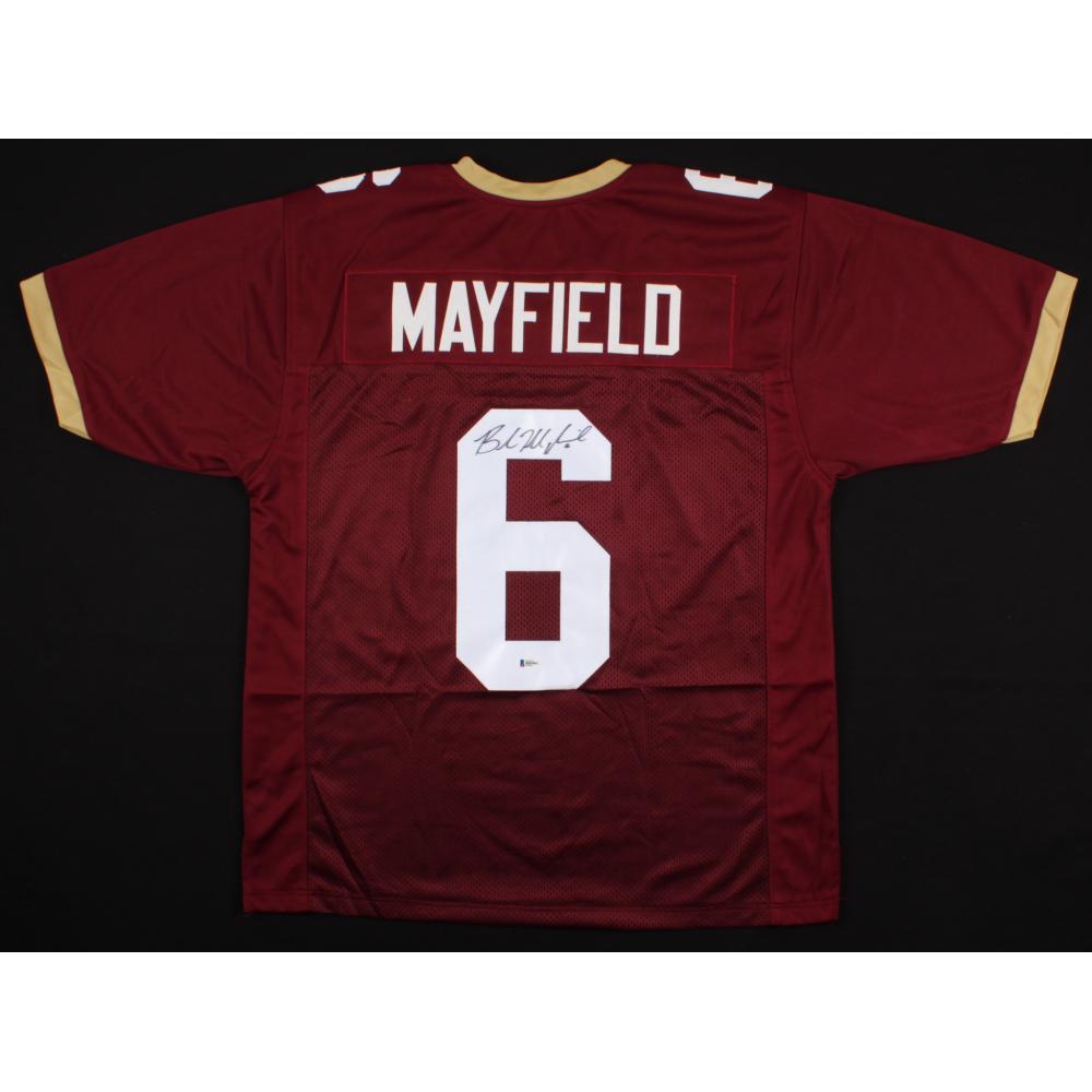 baker mayfield oklahoma jersey unsigned