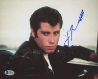 """John Travolta Signed """"Grease"""" 8x10 Photo (Beckett COA)"""