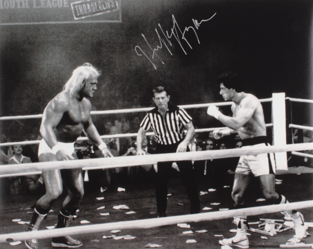 "Hulk Hogan Signed ""Rocky III"" 16x20 Photo (Mead Chasky Hologram) at PristineAuction.com"