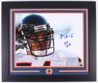 "Brian Urlacher Signed Bears 23.5x27.5 Custom Framed Photo Display Inscribed ""HOF 2018"" (Beckett COA)"